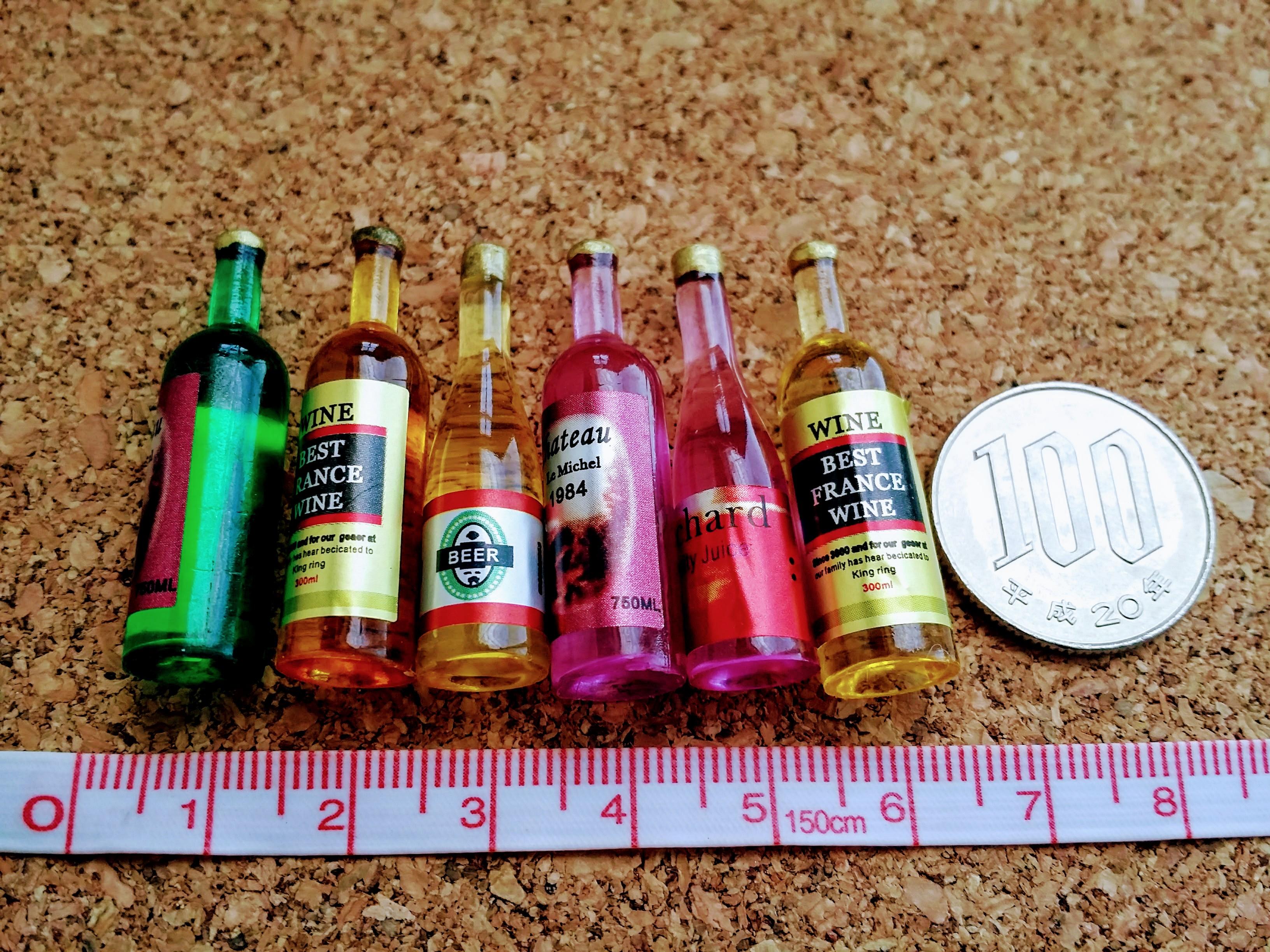 ミニチュア雑貨通販ワイン6本セット