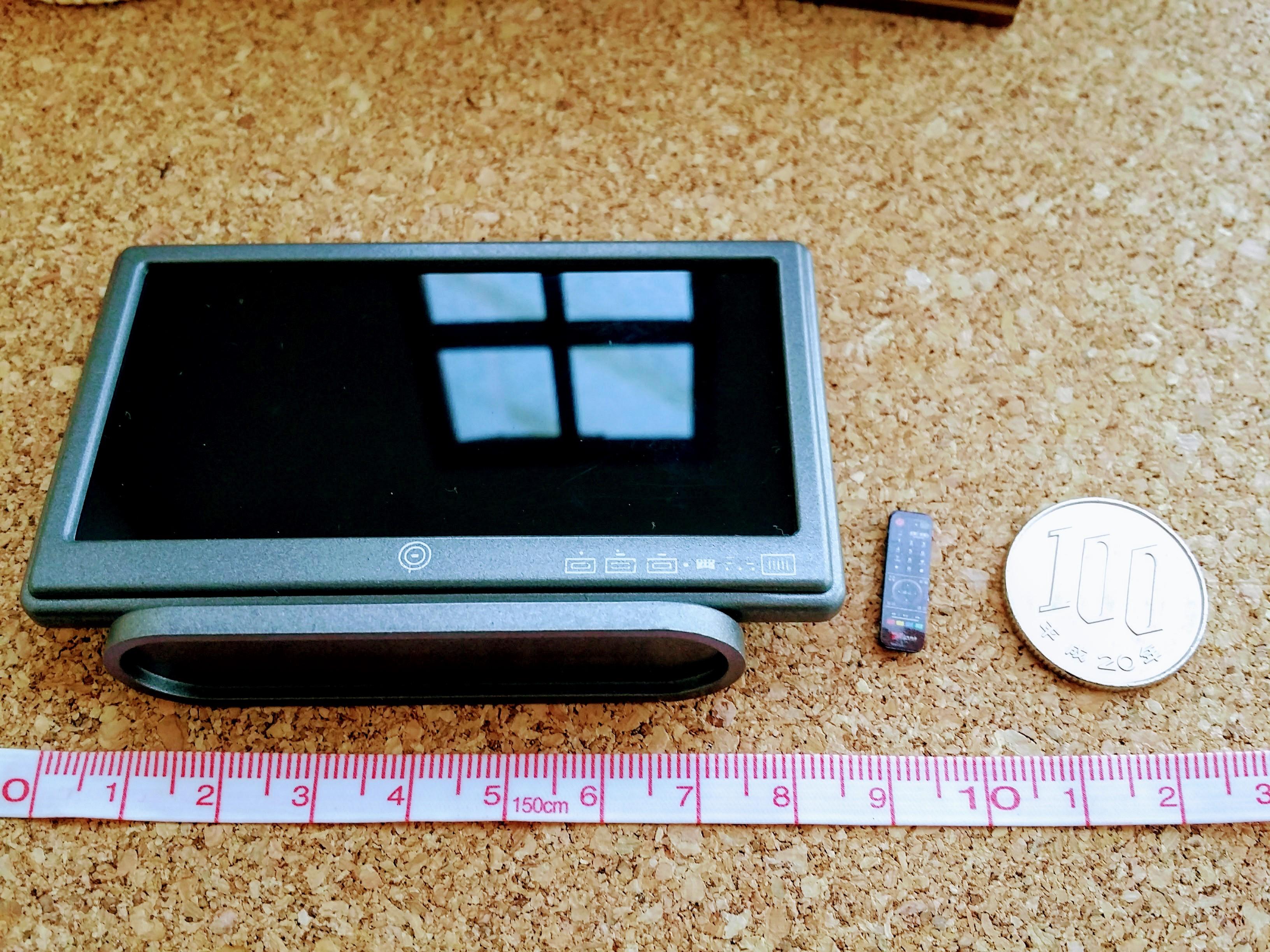 ミニチュア雑貨通販テレビ+リモコンセット